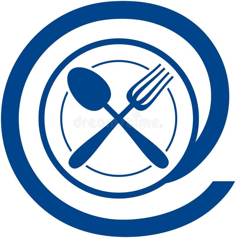 Знак электронной почты ресторана иллюстрация вектора