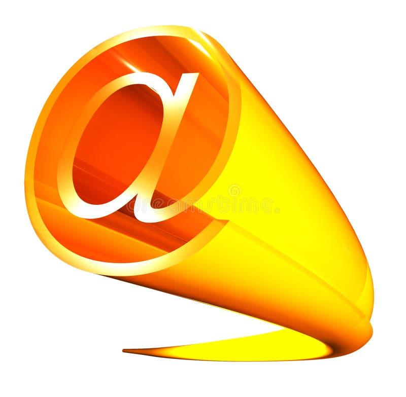 знак электронной почты иллюстрация штока