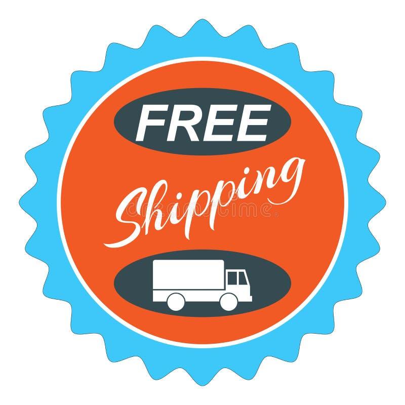 Знак эмблемы уплотнения бесплатной доставки бесплатная иллюстрация