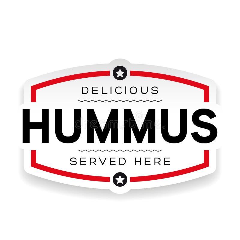 Знак ярлыка Hummus винтажный бесплатная иллюстрация