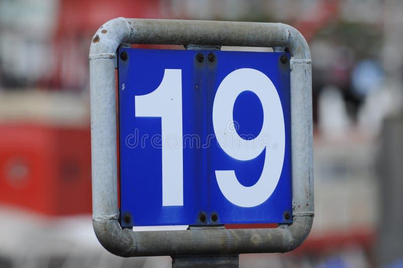 знак 19 стыковок стоковое фото