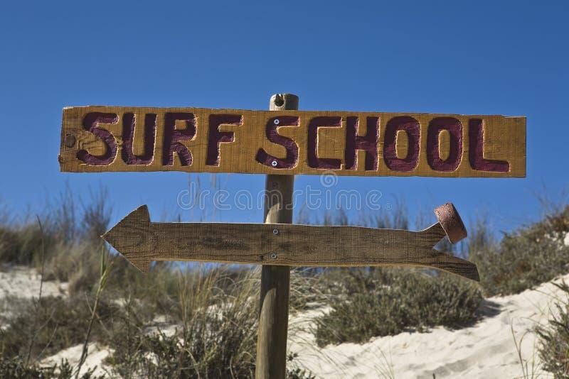 Знак 2 школы прибоя стоковое изображение