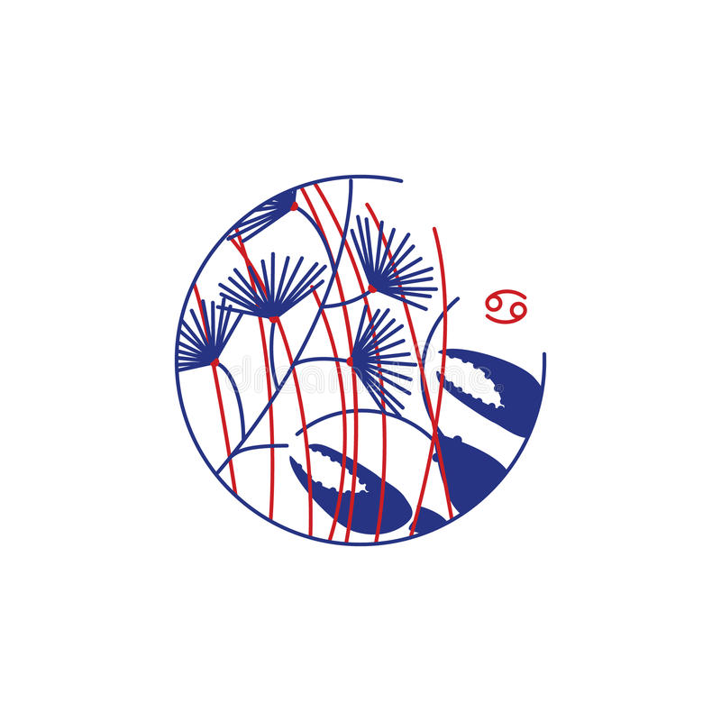 Знак ancer ¡ зодиака Ð иллюстрация вектора