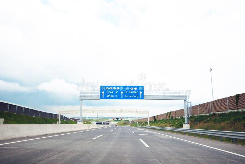 Знак Autobahn стоковое изображение rf