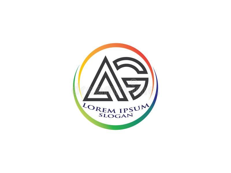 Знак BCommunity векторной графики логотипа дизайна начальное письмо AG Символ единства Штат компании Общественная организация Хор бесплатная иллюстрация