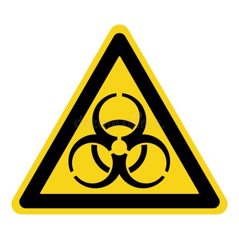 Знак Biohazard желтый иллюстрация вектора
