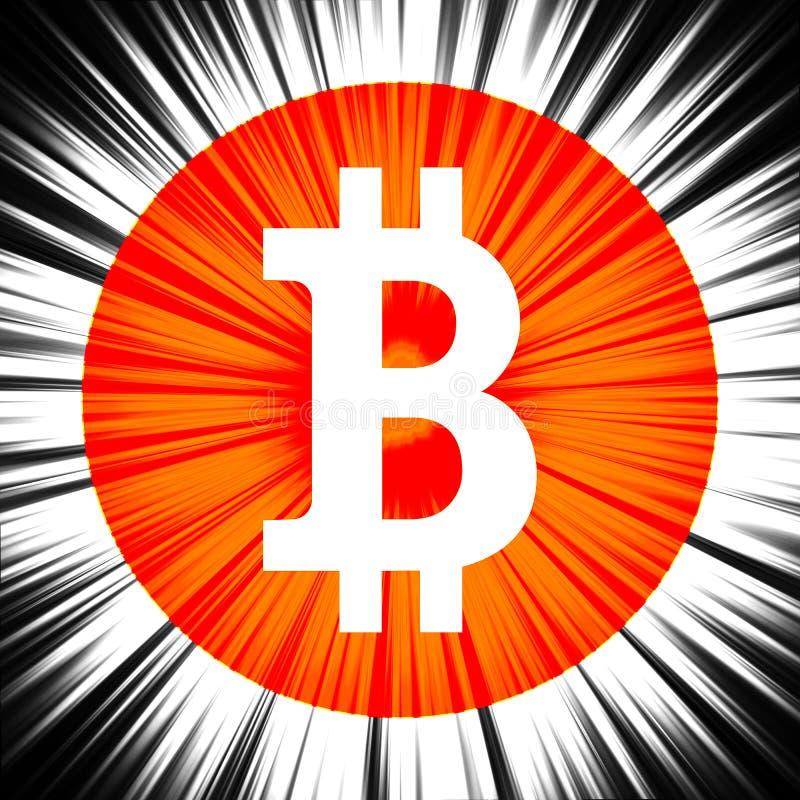 Знак Bitcoin на абстрактной предпосылке стоковые фотографии rf