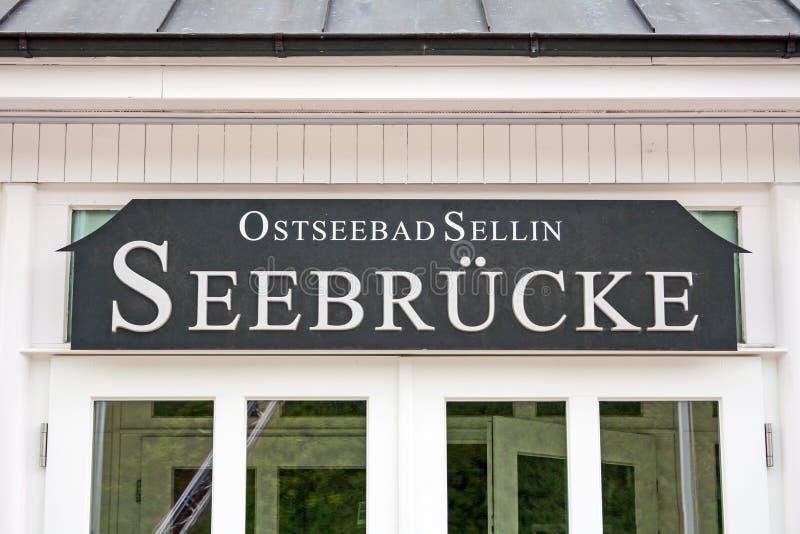 Download Знак cke ¼ Selliner Seebrà редакционное стоковое фото. изображение насчитывающей ресторан - 41651623