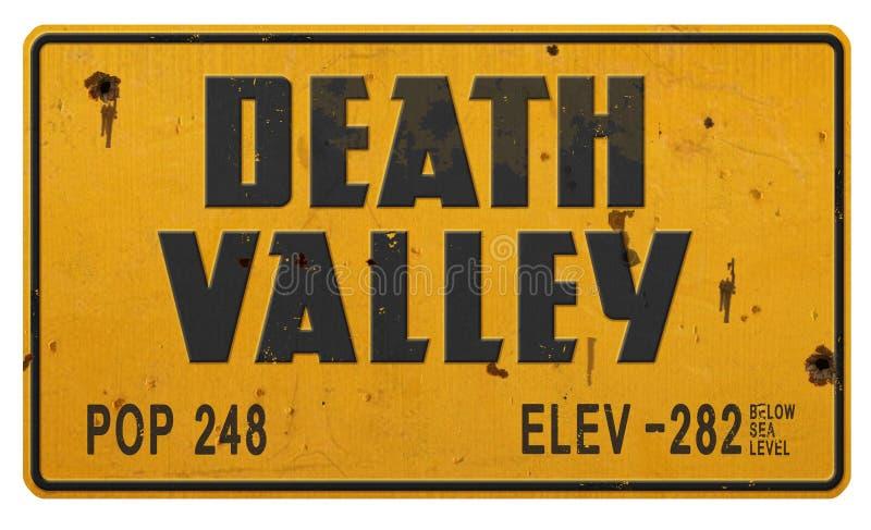 Знак Death Valley стоковое фото rf