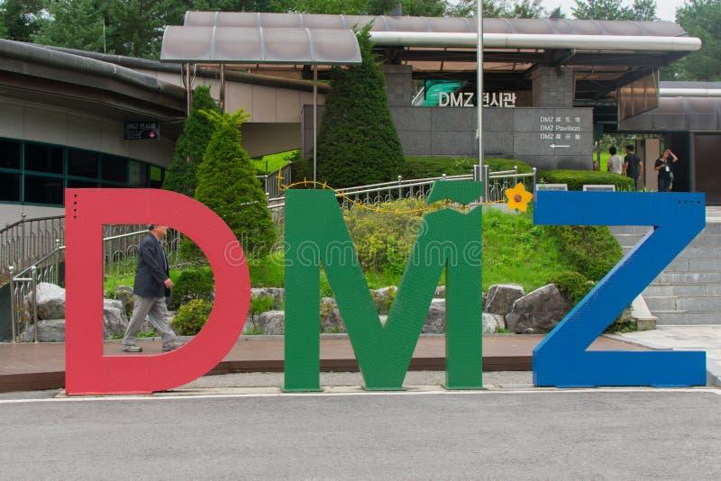 Знак DMZ стоковое изображение rf