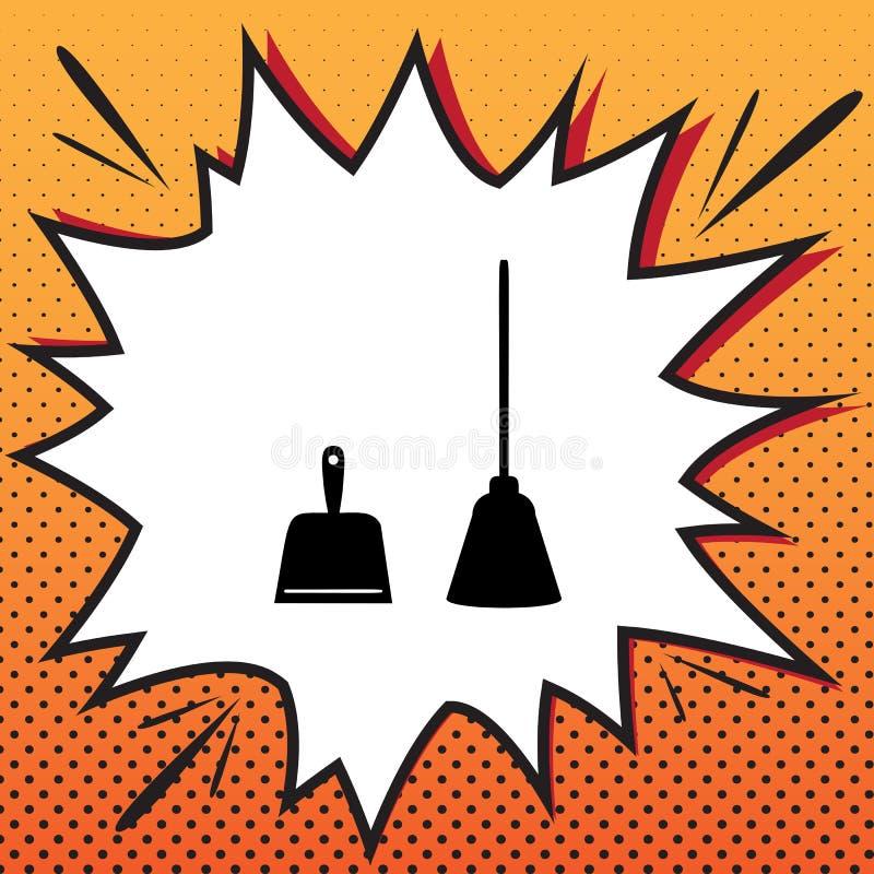 Знак Dustpan Ветроуловитель для очищая dustpan домашнего хозяйства отброса оборудует иллюстрация штока