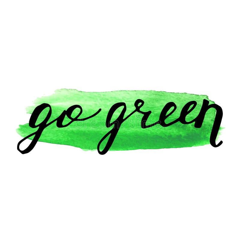Знак Eco био на пятне акварели Естественное органическое бесплатная иллюстрация