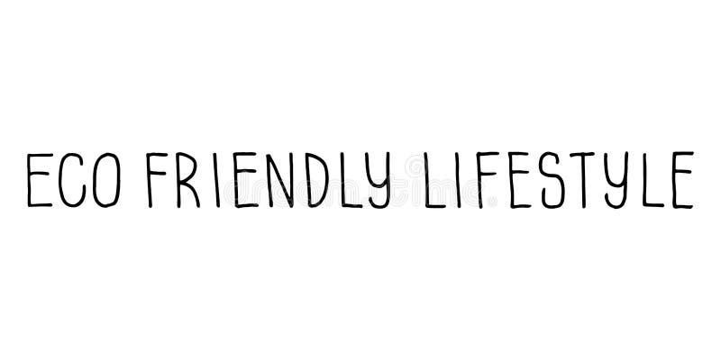 Знак Eco Friendly Lifestyle Векторное рассеивание вручную бесплатная иллюстрация