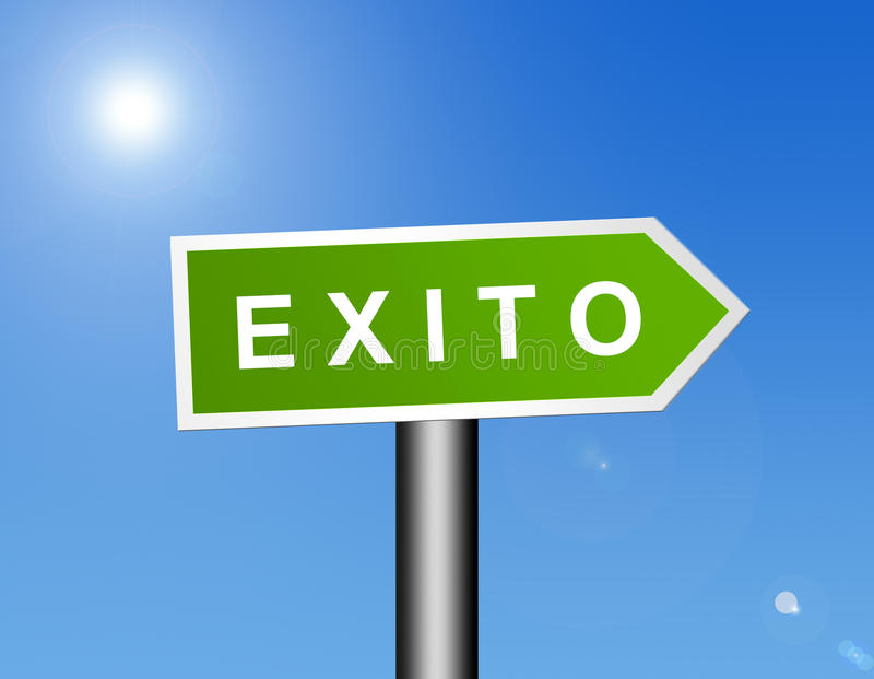 знак exito бесплатная иллюстрация