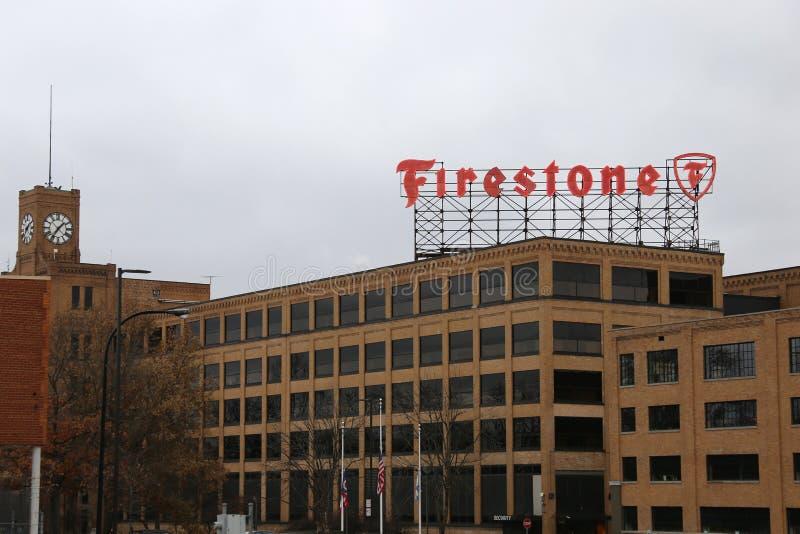 Знак Firestone стоковые изображения