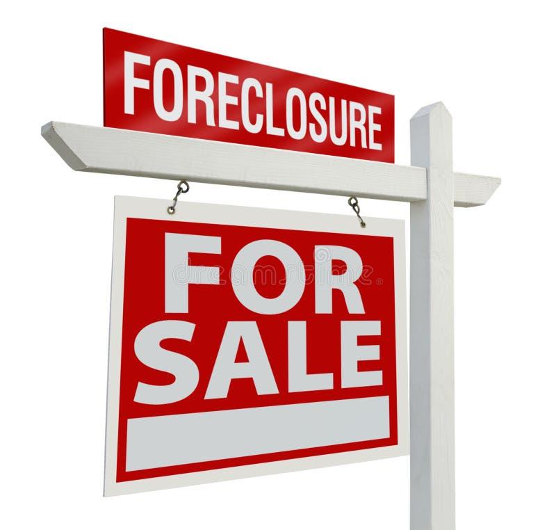 знак foreclosure имущества реальный стоковое изображение