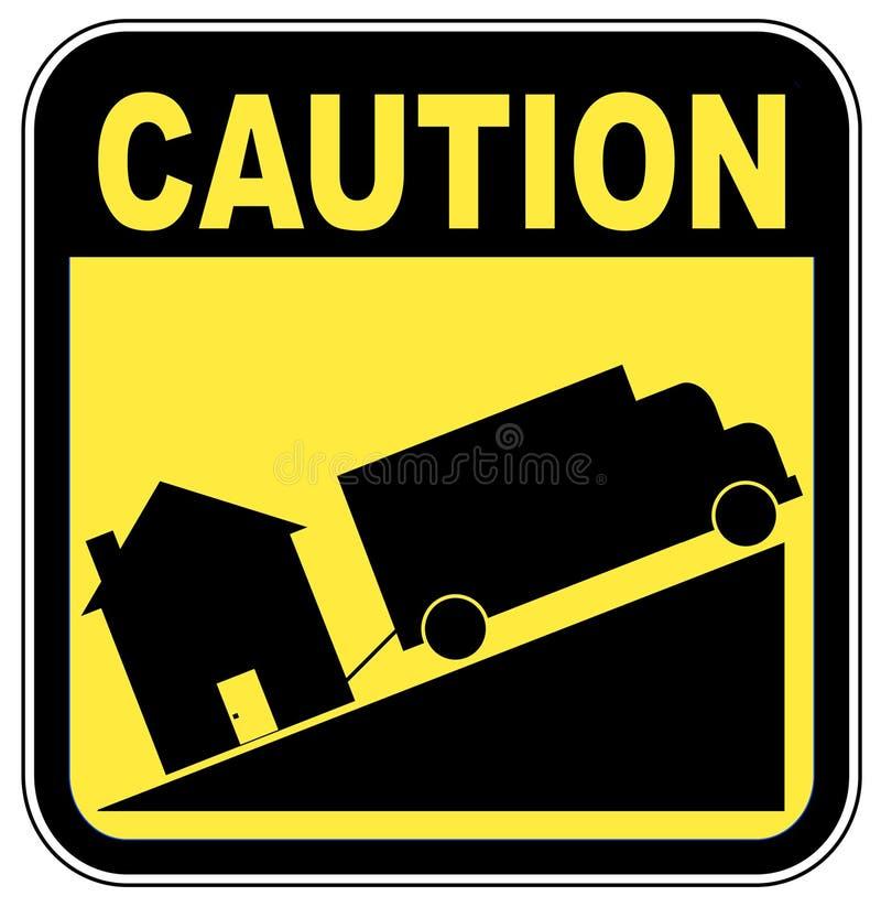 знак foreclosure иллюстрация штока