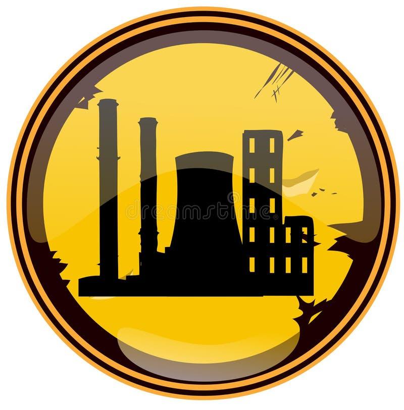 Знак Grunge индустриальной зоны круглый бесплатная иллюстрация