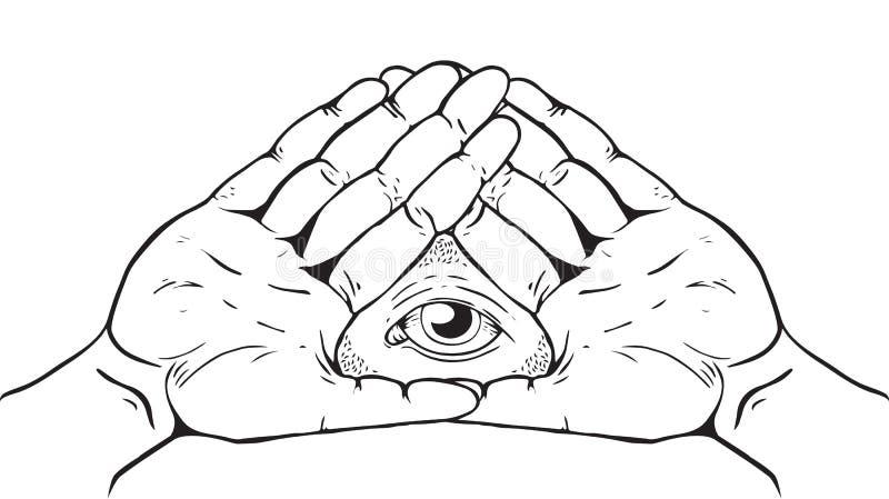 Знак Illuminati - глаз бога бесплатная иллюстрация