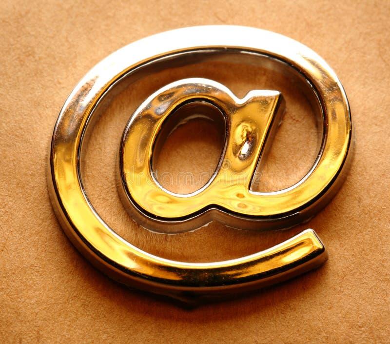 Знак international электронной почты стоковое фото rf