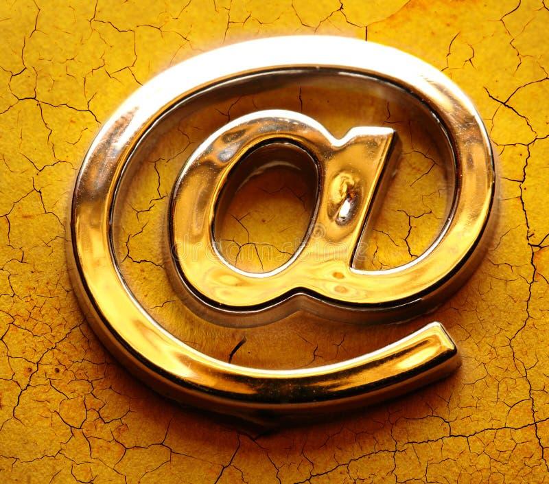 Знак international электронной почты стоковые фотографии rf