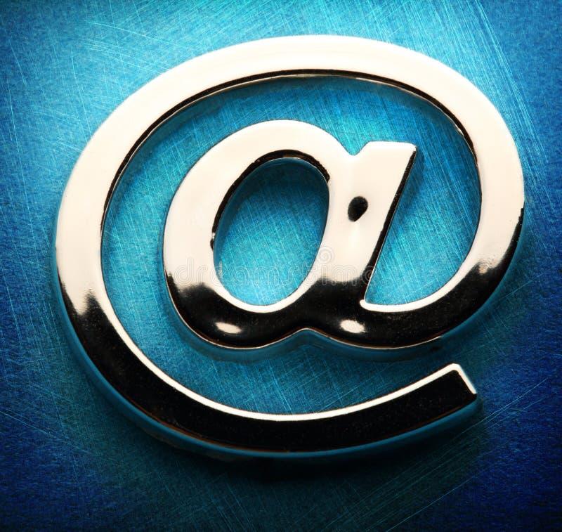 Знак international электронной почты стоковая фотография rf