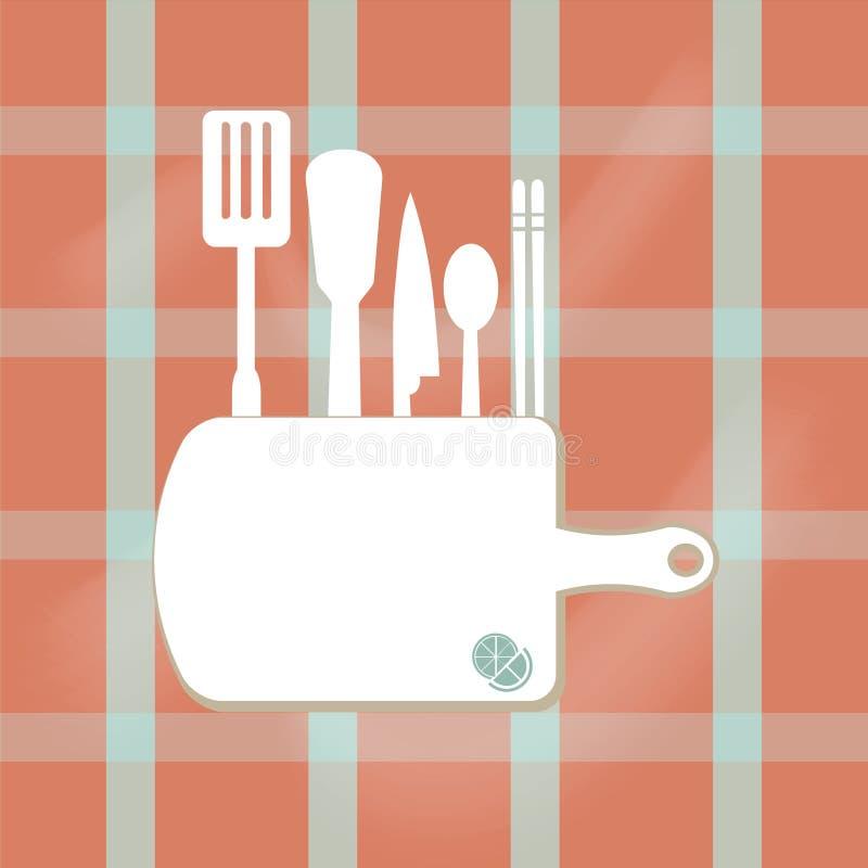 Знак Kitchenware, варя иллюстрацию концепции страницы книги бесплатная иллюстрация