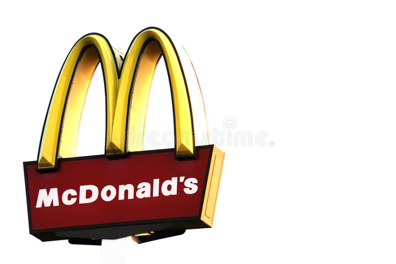 знак mcdonalds стоковое изображение