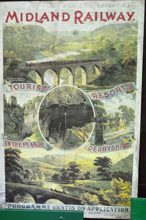 Знак Midland железнодорожный туристский стоковое фото