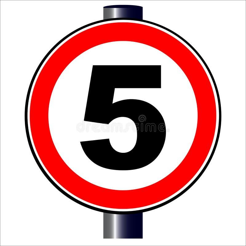 знак 5 mph иллюстрация вектора