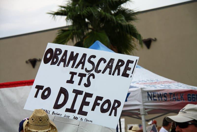 Знак Obamascare стоковые фото