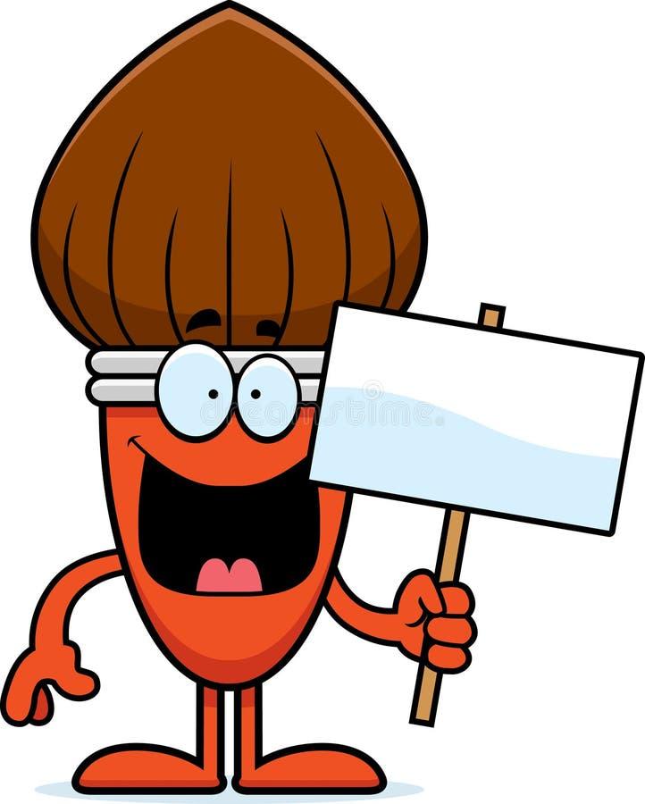 Знак Paintbrush шаржа иллюстрация вектора