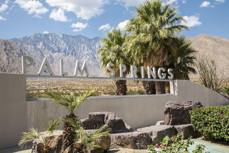 Знак Palm Springs стоковая фотография