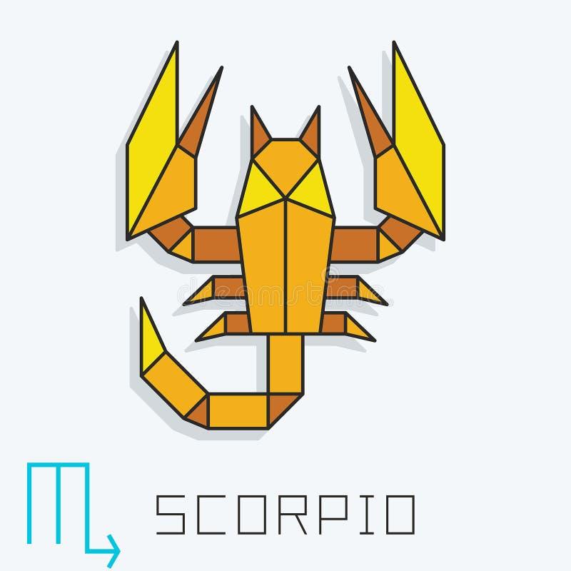 Знак Scorpio иллюстрация штока