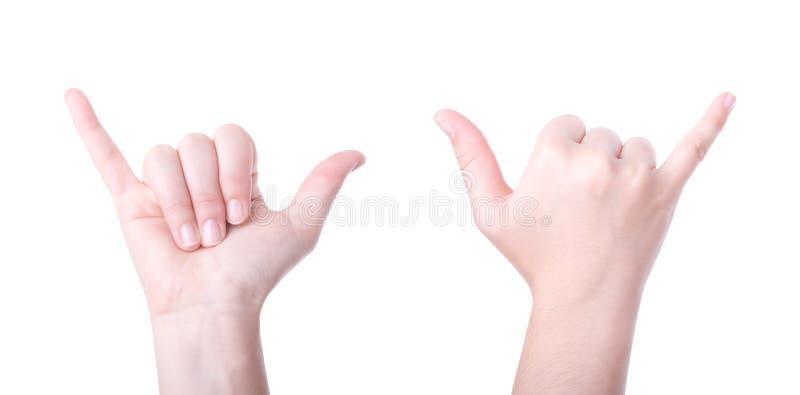 знак shaka руки стоковое изображение