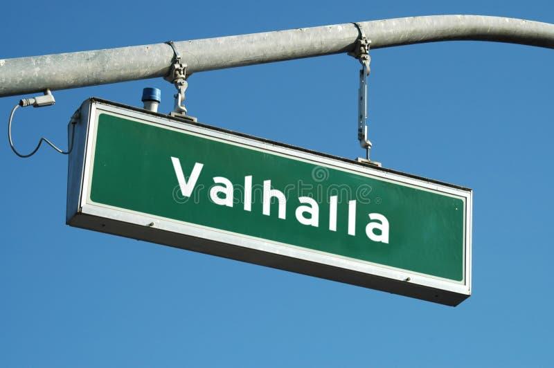 знак valhalla стоковые фото