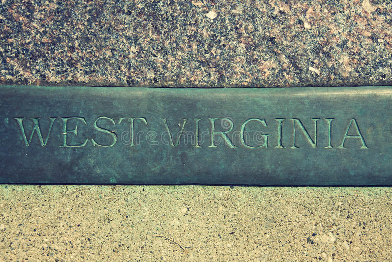 знак virginia западный стоковые изображения