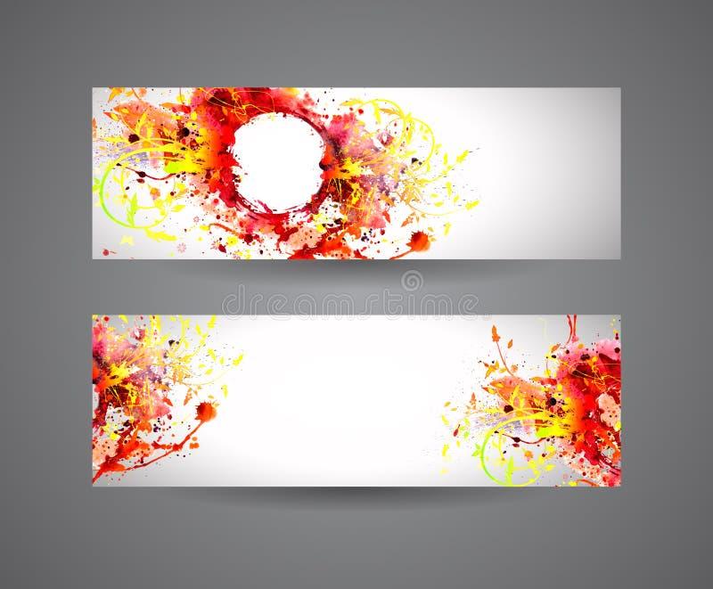 Знамена абстрактной краски для пульверизатора иллюстрация штока