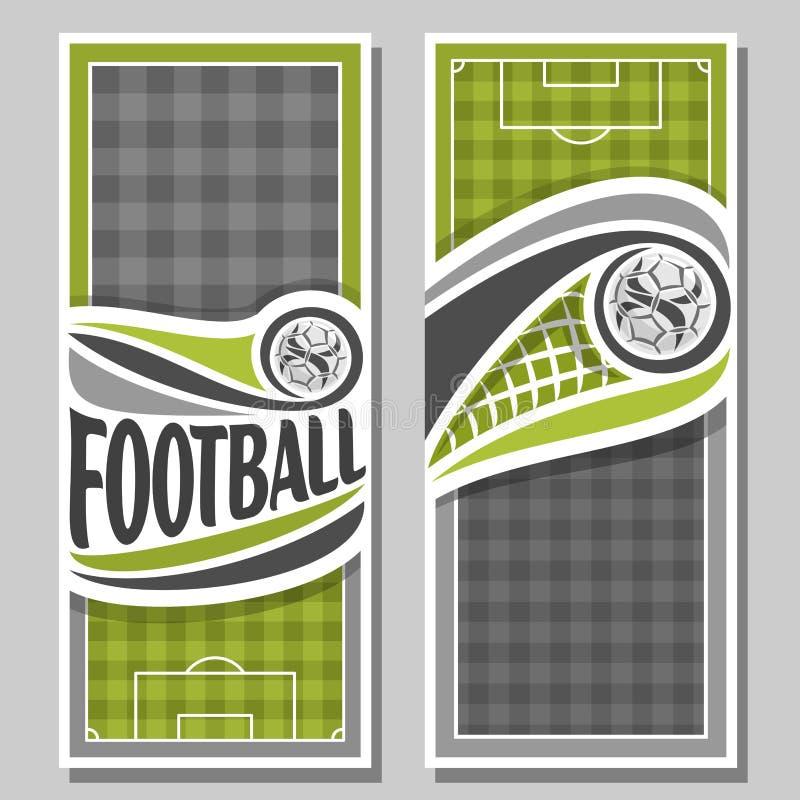 Знамена вектора вертикальные для футбола бесплатная иллюстрация