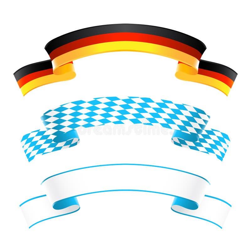Знамена Германии и Баварии бесплатная иллюстрация