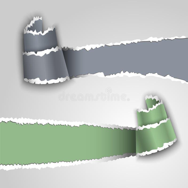 знамена завертывают в бумагу сорвано иллюстрация вектора