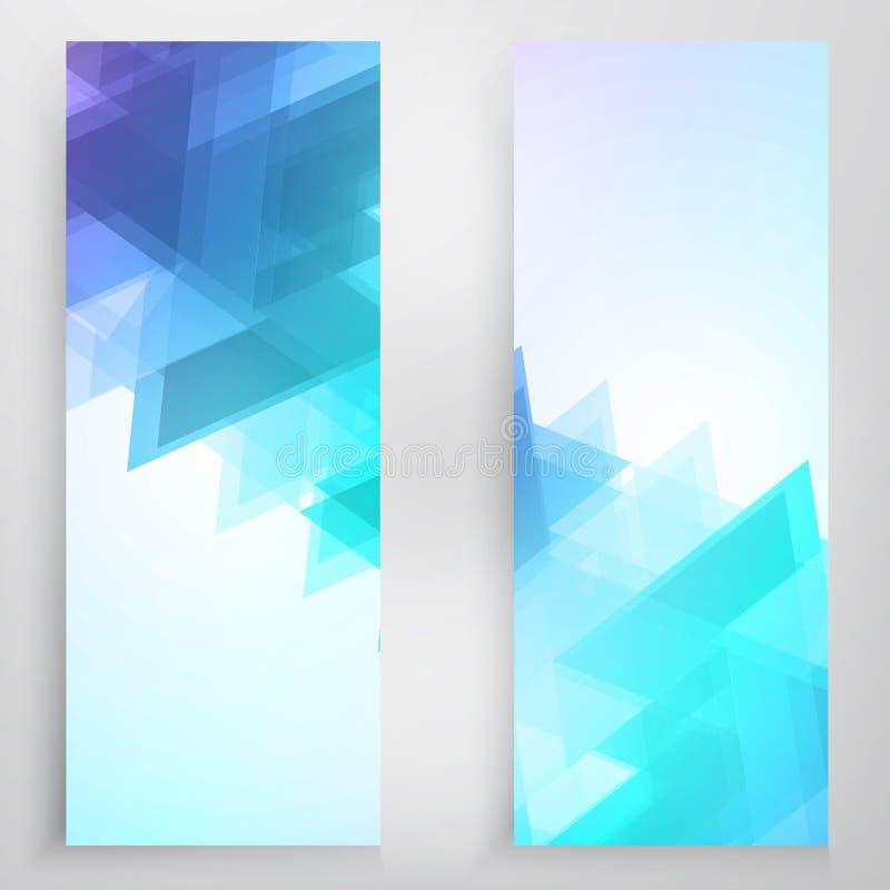 Знамена и треугольники вектора иллюстрация вектора