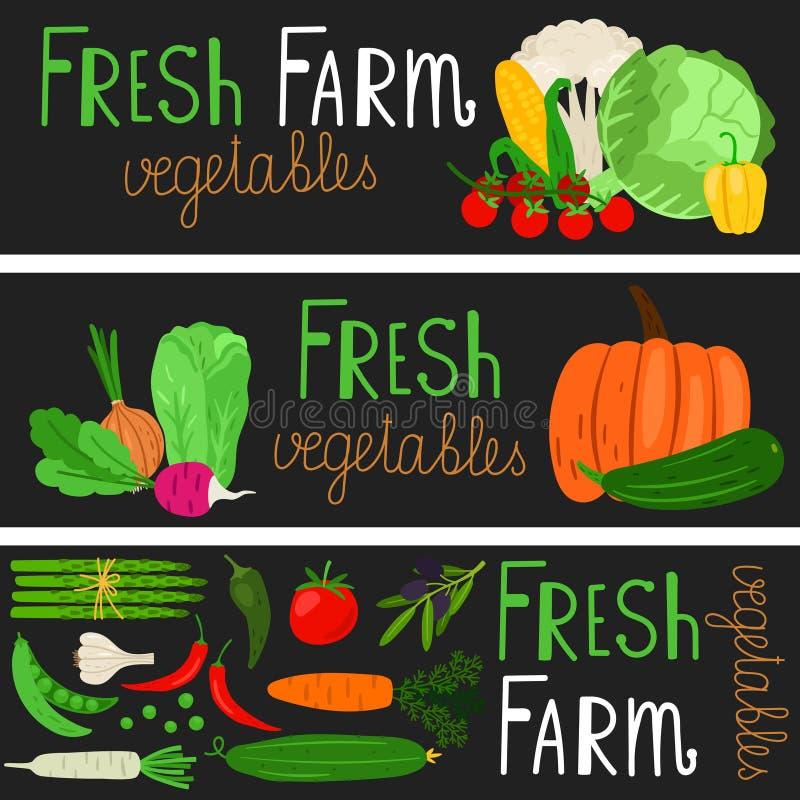 Знамена овощей мультфильма бесплатная иллюстрация