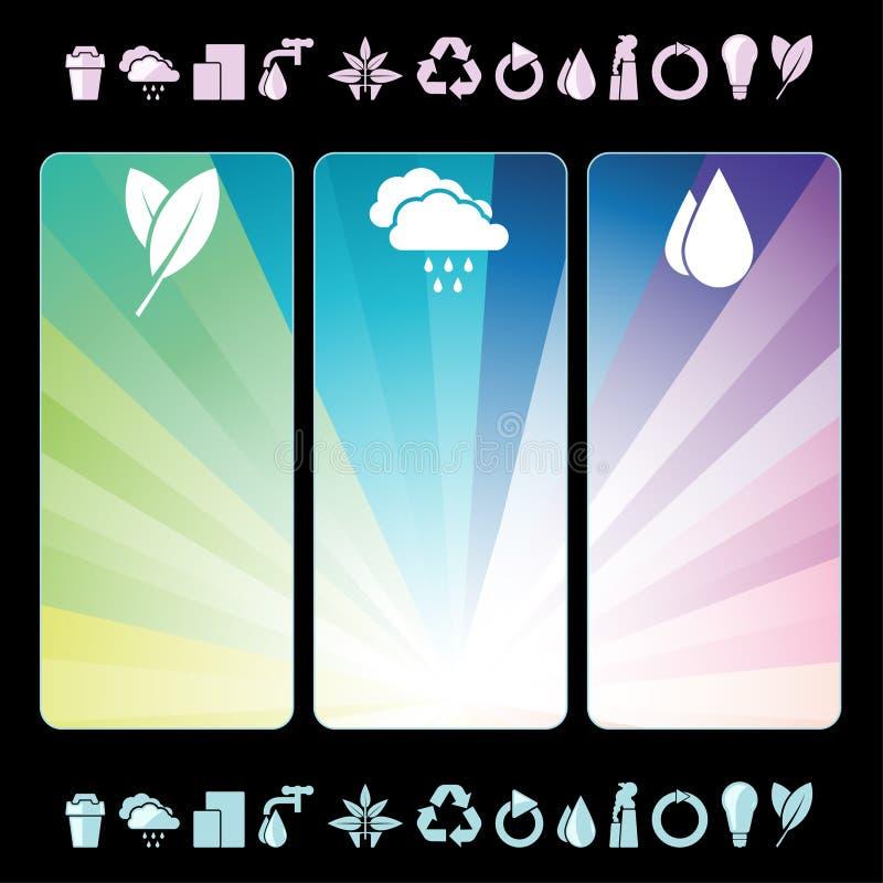 знамена относящие к окружающей среде иллюстрация штока