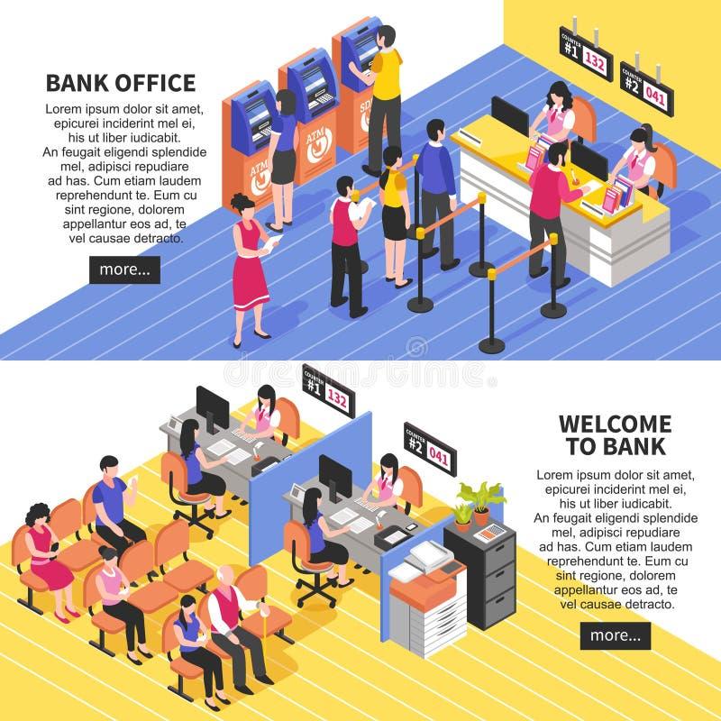 Знамена офиса банка горизонтальные равновеликие бесплатная иллюстрация