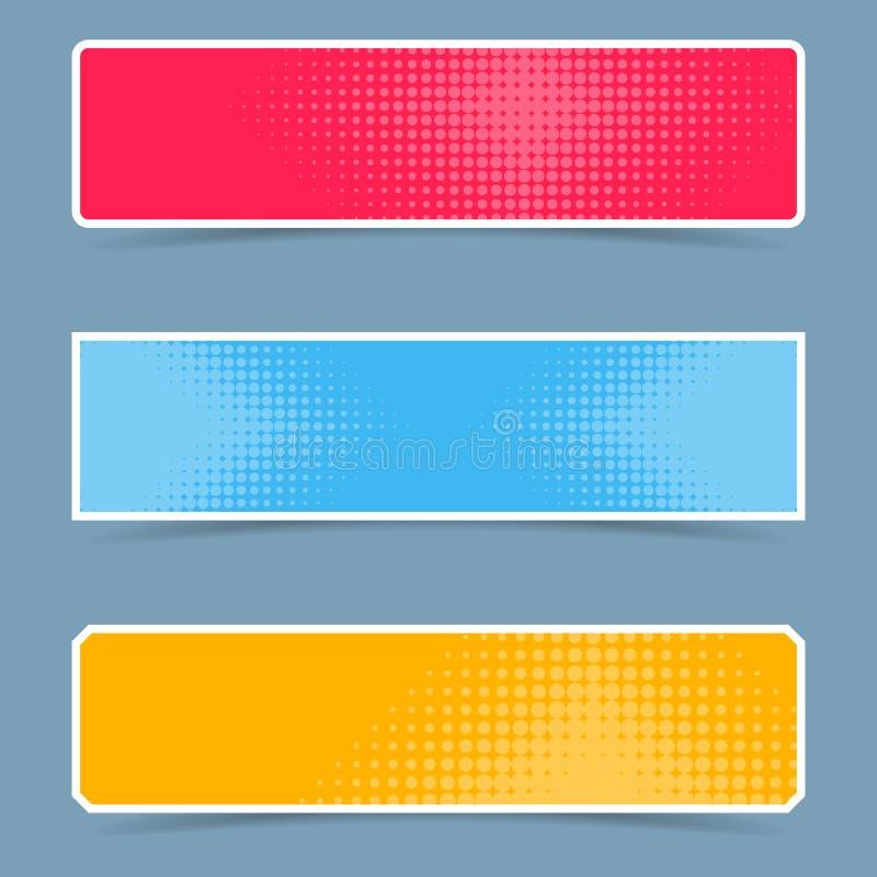 Знамена полутонового изображения творческие иллюстрация штока