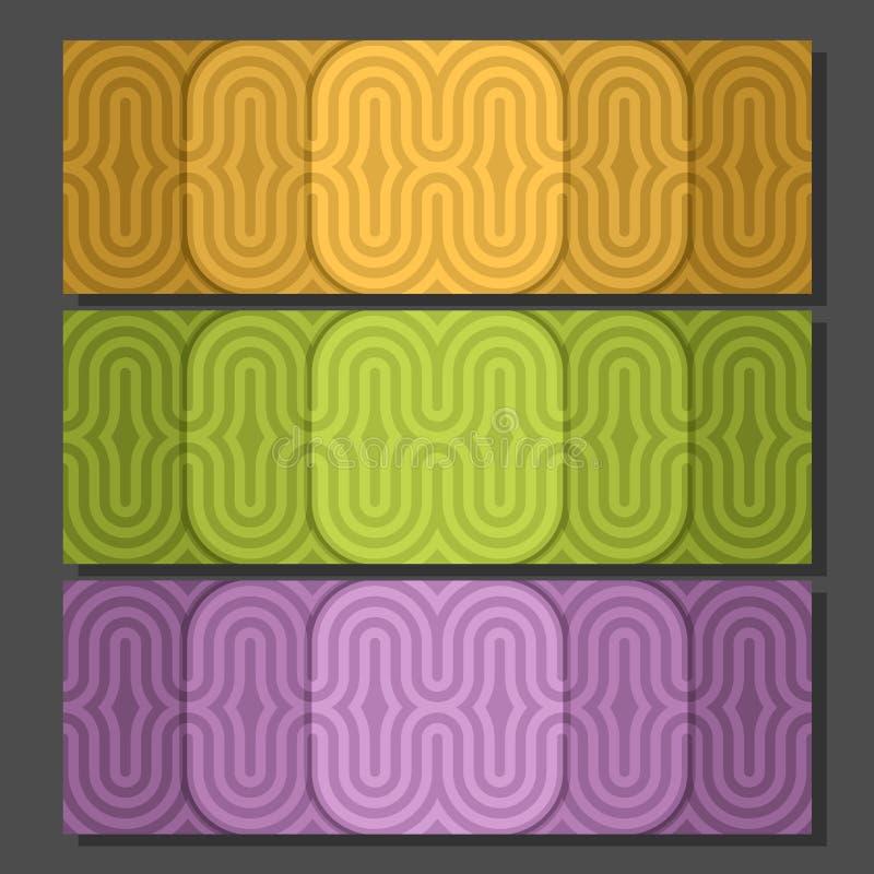 Знамена предпосылки вектора установленные красочные иллюстрация штока
