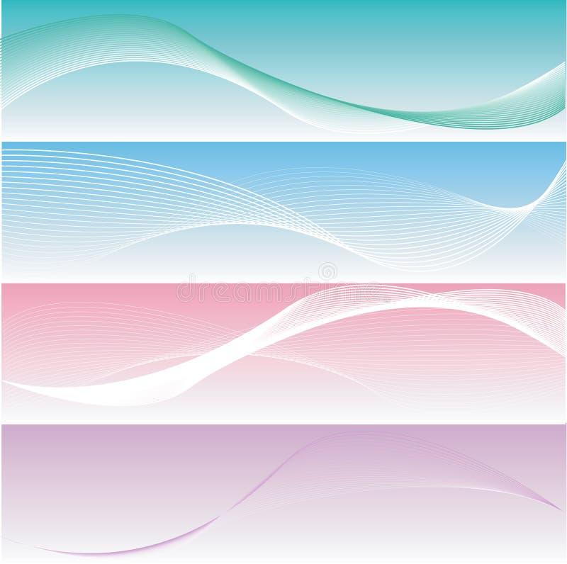 знамена различные шикарные 4 ровное иллюстрация штока