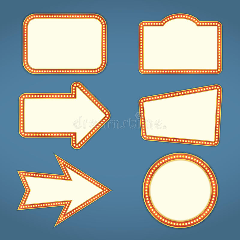 знамена ретро иллюстрация вектора