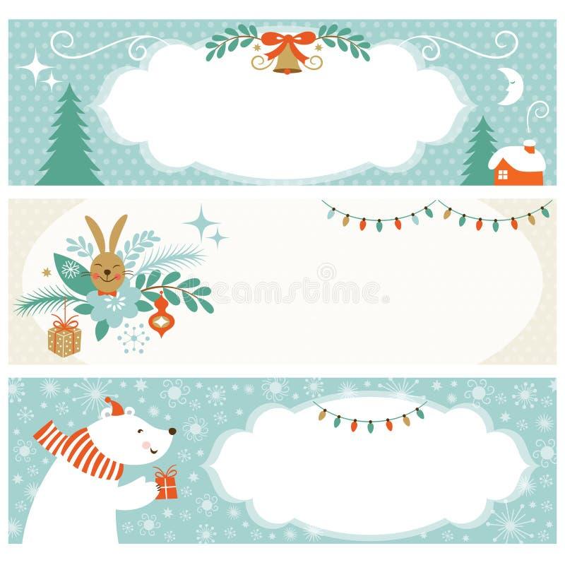 Знамена рождества горизонтальные бесплатная иллюстрация
